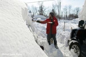 снегопад, природная катастрофа, сша, Буффало