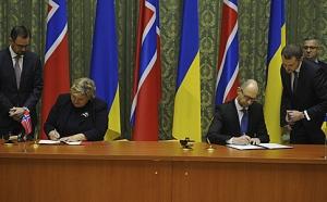 яценюк, правительство, норвегия, украина