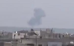 сирия, происшествия, самолет, су-22, падение, видео, новости, война, игил, армия сирии, оппозиция