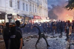 россия, гамбург, акции протеста, большая двадцатка, криминал