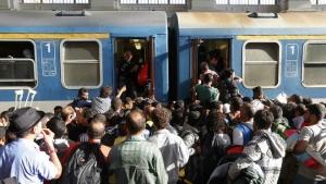 венгрия, нелегалы, железная дорога