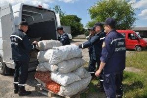 Помощь, гуманитарка, боевики, жители, Луганск