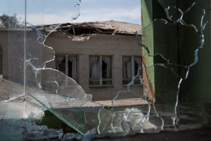 Донецк, обстрел, Октябрьский, магазины, остановка