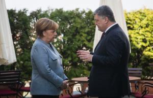 украина, германия, киев, порошенко, меркель, встреча, переговоры, военный конфликт на донбассе, минские договоренности, деммер