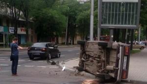 донецк, днр, авария, дтп, происшествия, фото, столкновение, новости украины