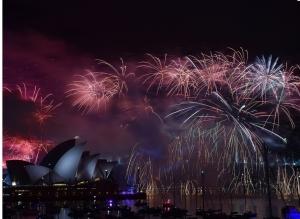 новый год, видео, салют, япония, сидней, новая зеландия
