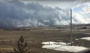 Канада, небо, странное явление, облако, видео, кадры, фото, цунами