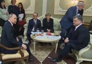 меркель, путин, порошенко, олланд, минск, переговоры, донбасс, ато