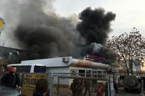 """Украина, Одесса, пожар, рынок, """"Меркурий"""", общество, полиция, ГСЧС, спасательная служба"""