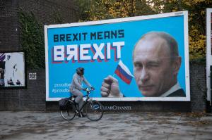 борды с Путиным, Британия, брекзит, Лондон, гордый медведь, новости, Евросоюз, Россия