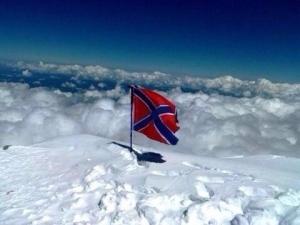 Новороссия, флаг, Губарев, Эльбрус, вершина