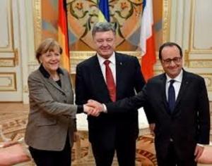 Украина, Ляшко, Путин, Олланд, Меркель, нормандская четверка
