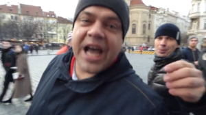 Чехия, Митинг, Проукраинская акция, Граждане РФ, Неадекватное поведение, Нападение