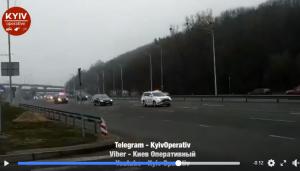 Украина, Кортеж, видео, Машины Киев