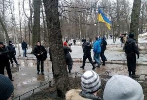 Санкт-Петербург, правоохранители, задержали парня, украинский флаг, шествие, Немцов