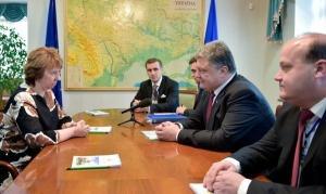 Петр Порошенко, Кэтрин Эштон, ЕС, Ассоциация с ЕС, Украина, Соглашение об ассоциации с ЕС , Восток Украины