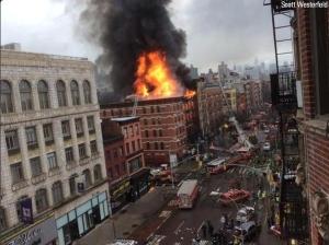 США, происшествия, Манхэттен, дом, взрыв, видео