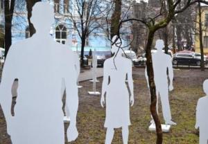 Днепропетровск, парк, инсталляция, торговля людьми, Александр Пшеничников