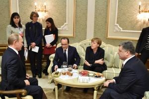 Нормандский формат, Владимир Путин, переговоры, английский язык