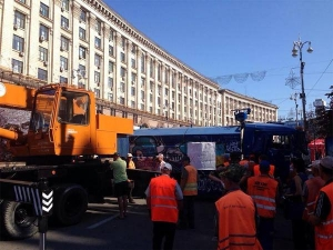 Киев, Майдан, милиция, зачистка, 7 августа