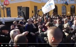 одесса, саакашвили, драка, полиция, митинг, происшествия, новости украины