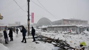 макеевка, рынок, снег, погода, происшествия, фото, днр, донбасс