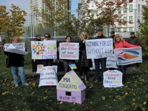 митинг переселенцев возле посольства, Киев, происшествия, новости Украины, голодовка
