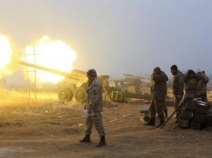 артиллерия, взрывы, залпы, донбасс
