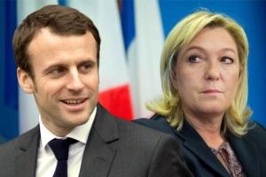 макрон, ле пен, франция, выборы президента франции, политика