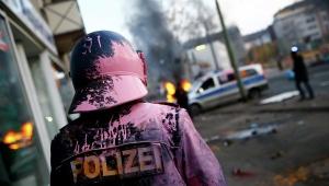 германия, полицйские, столкновения, общество, протесты
