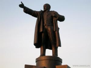 Ленин, памятник, снос, трос, неизвестные