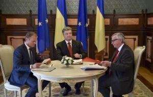 киев, саммит, порошенко, туск, юнкер, 27 апреля