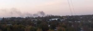 аэропорт донецк, стрельба, пожар, ато, разрушения