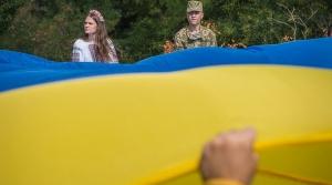 украина, одесса, флаг, лестница, патриотизм
