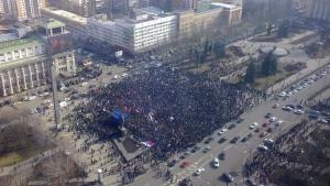 митинг в донецке, ато, юго-восток украины, павел губарев, днр, игорь стрелков