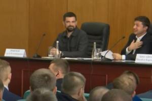 Зеленский, Борисполь, встреча, чиновники, фекалии, озеро, мэр, Федорчук