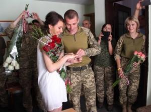 свадьба военнослужащих ВСУ, свадьба в Авдеевке, любовь на передовой