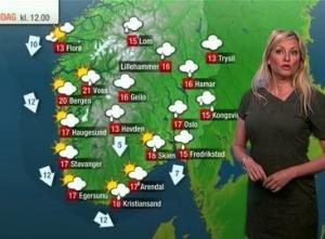 норвегия, рекорд, ведущая, прогноз погоды, осло