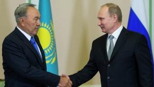 назарбаев, путин, казахстан, россия, политика, переговоры в минске, восток украины, донбасс