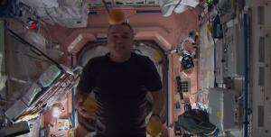космос, мск, цирк на орбите, видео, космонавты