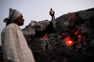 ЮАР, пожар, происшествия, общество, шахтеры, рудник