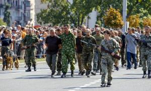 ДНР,  восток Украины, Донбасс, пленные, ВСУ, парад, фото, кадры, Донецк