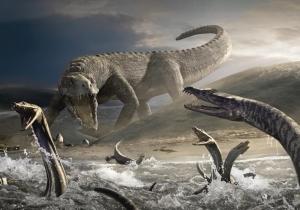 Шотландия, остров Скай, следы, отпечатки, динозавр, теропод, зауропод, кадры, фото