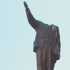 ленин, полтава, памятник, ленинопад