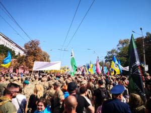 Украина, киев, Марш Достоинства, День Независимости, ветеран, шествие