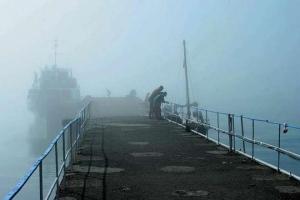 керченская переправа, крым, украина, общество, туман