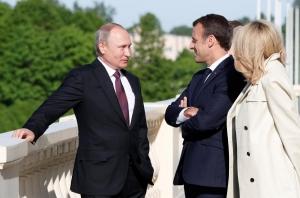 Путин, Макрон, Франция, Россия, Санкт-Петербург, встреча, президенты, Украина, Сирия