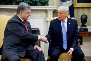 Петр Порошенко, Визит в Вашингтон, Дональд Трамп, Белый дом