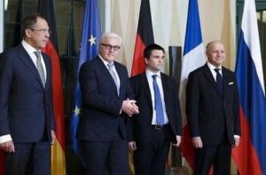 Штайнмаер, Климкин, Лавров, Фабьюс,нормандская четверка, переговоры в Берлине