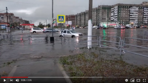 Град, непогода, Магнитогорск видео град вода РФ